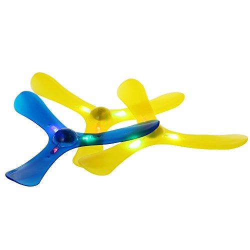 JAGENIE新しいLEDライト3は、ブーメラン屋外おもちゃのスポーツ玩具飛ぶ飛ぶおもちゃクリスマスの新年のギフト、1 PC、ランダム配信を残す