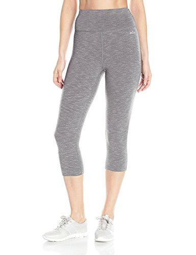 ファセット主権者エッセンスSpalding Women's Herringbone Spacedye Jacquard Crop Legging Slate Grey Combo M [並行輸入品]