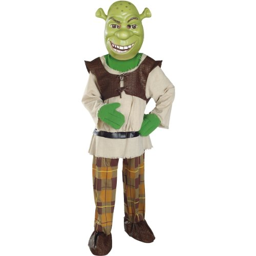 Shrek Costumes Kids Mask (Shrek Child's Deluxe Costume And Mask, Shrek Costume)