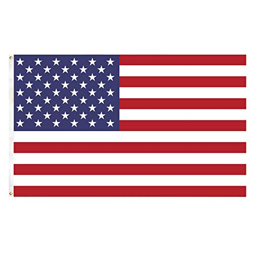 ITODA American US Flag Fly 3x5 Ft Banners Themed Party Yard Porch Boat Sailing Bike Car Bar Halloween Christmas Garage Home Outdoor Decoration -