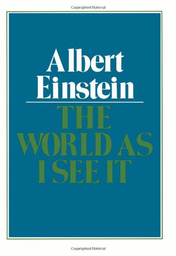 Cover of The World As I See It