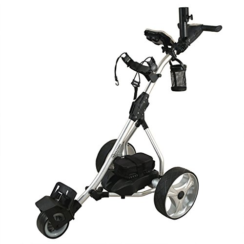 - NovaCaddy S2R Remote Control Electric Golf Trolley Cart, Lithium Battery, Silver