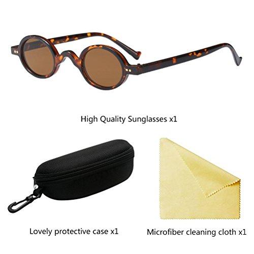 Lunettes Ombres De UV400 Protection Rétro Unisexe Style1 Zhuhaitf Femmes De Vintage Soleil Brown Hommes q8wAAXv