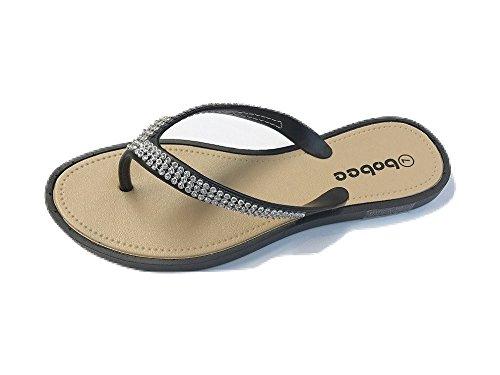 Bobee Womens Rhinestone Studded Sandals