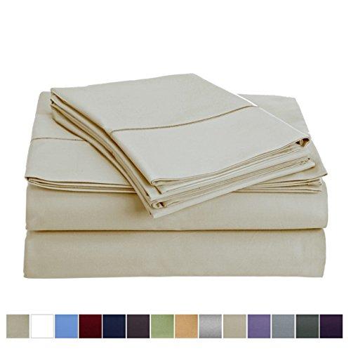 800 Thread Count 100% Egyptian Cotton Extra Long Staple Bed Sheet Set 4 Piece Bedding Extra Deep Pocket upto 18