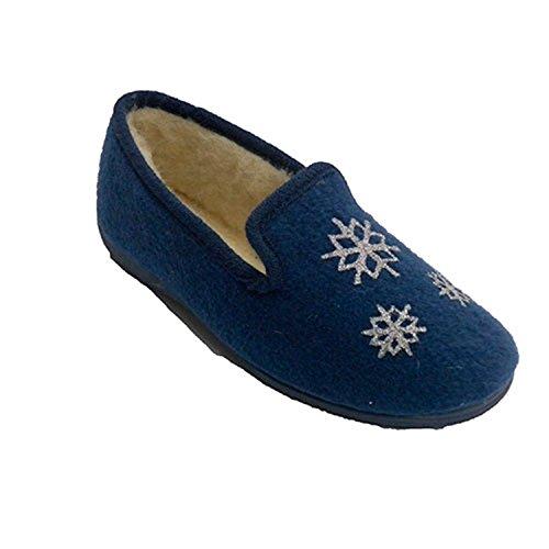 Des Soca Femme Avec La À En Bleu Maison Tissu Chaussure Être Étoiles zfrq1xwzZ