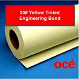Oce 20# Yellow Recycled Tinted Bond - 45111X (2 Rolls, 36''x500')