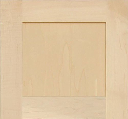 Maple Shaker Kitchen - Unfinished Maple Shaker Cabinet Door by Kendor, 12H x 13W