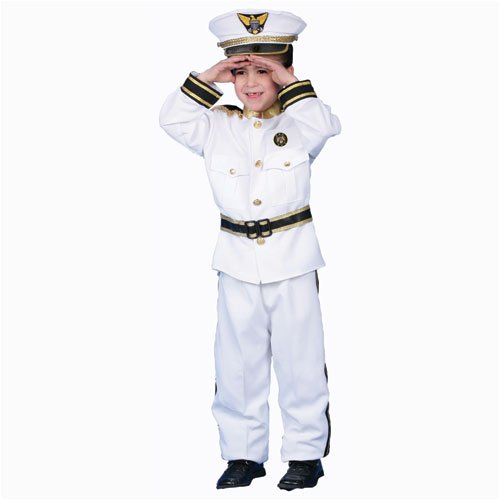 Deluxe Navy Admiral Costume Set - Medium 8-10 -