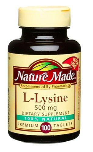 Nature Made L-Lysine 500mg, 100 Capsules (pack de 3)