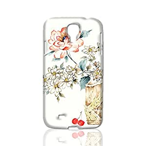 Lovely Pink Flourishing Peony 3D Rough Case Skin, fashion design image custom, durable hard 3D case cover, Case New Design for Samsung Galaxy S4 I9500 , By Codystore
