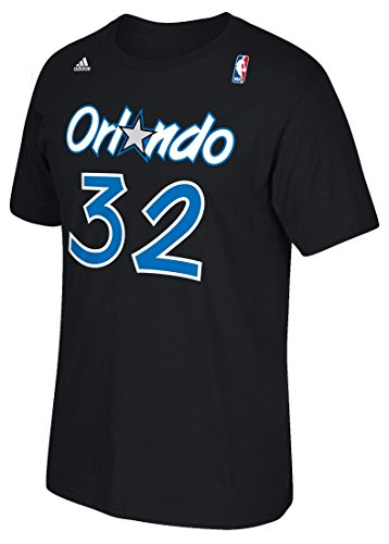 Orlando Magic Shaquille O'neal Shaq Adidas Black T Shirt (Small)