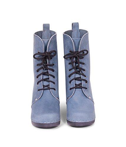 Sandgrens Swedish High Heel Wooden Clog Boots For Women | Berkeley Denim C8iSr7Gmn