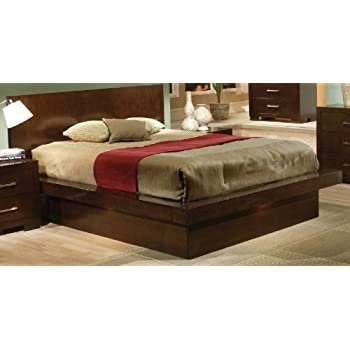 this item jessica collection contemporary style california king size platform bed - Cal King Platform Bed Frame