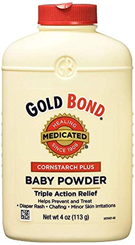 - Gold Bond Cornstarch Plus Baby Powder 4 oz (Pack of 3)