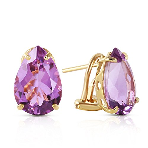 ALARRI 10 CTW 14K Solid Gold Inspiration Amethyst Earrings by ALARRI