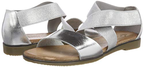 Silber grau 92 910784 Damen sandalette Piazza Schwarz ExqwZTEf