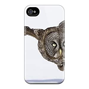 Iphone 4/4s Hard Back With Bumper Silicone Gel Tpu Case Cover Owl Flying