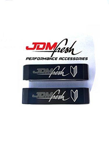 JDMFresh - Black Hood Spacer Hood Risers for Honda / Acura Civic Accord Integra