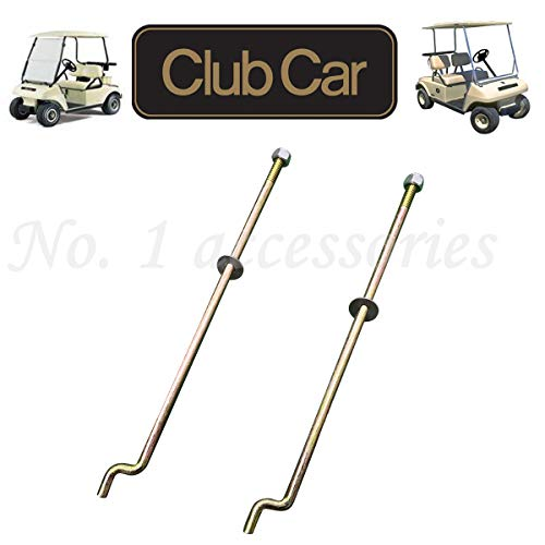(No. 1 accessories Golf Cart Battery Hold Down Plate, Rods, Washers & Nuts,for Club Car DS and Carryall Electric 1998-2005 (2 Pcs Hold Down Rod))