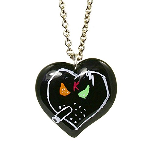 By Tarina Necklace Tarantino Heart - Tarina Tarantino X KidRobot I Love Smorkin Long Heart Necklace in Black