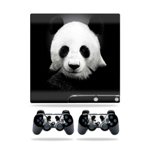 MightySkins Skin Compatible con Sony Playstation 3 PS3 Slim Skins + 2 Controller Skins Sticker Panda