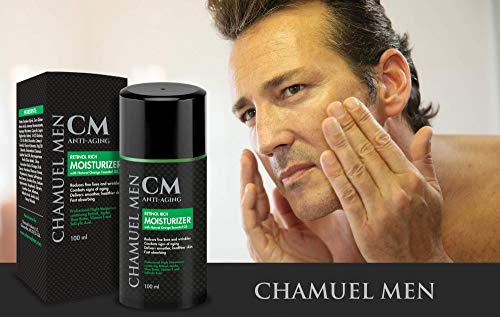 41J3PM2dHcL - Men's Anti Aging Face Cream with 2.5% Retinol - Mens Face Moisturizer Retinol Cream - Reduce Face & Eye Wrinkles, Restore and Maintain a Youthful Appearance while You Sleep. Guaranteed Results!