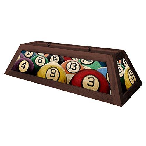 Rack'em Billiard Ball Pool Table Light - Brown by KegWorks