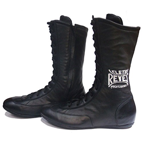 Cleto-Reyes-Leather-Lace-Up-High-Top-Boxing-Shoes-Black