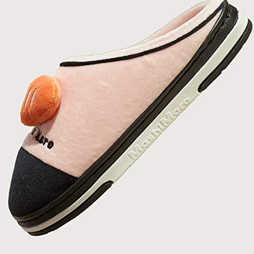 couleur Et En Taille 38 Nouveau Beau Le Hiver Coton Pink Femme 36 Pink Pantoufles Fond Version Coréenne Forfait Td Automne Intérieur qwnTWAXZn5