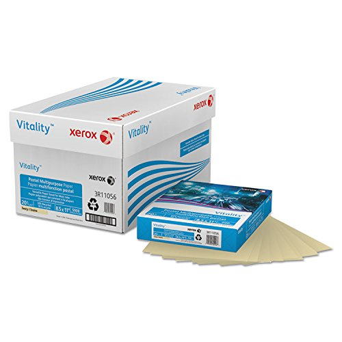 Ream Xerox - Xerox Multipurpose Colored Paper, 8 1/2in. x 11in., 20 Lb., Ivory, Ream Of 500 Sheets