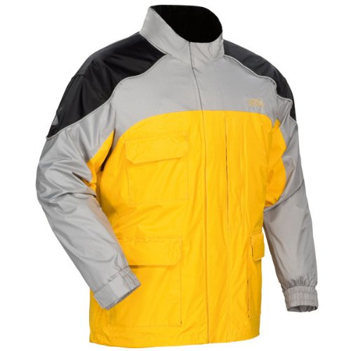 Tour Master Sentinel Men's Jackets Sports Bike Racing Motorcycle Rain Suits - Yellow / X-Small