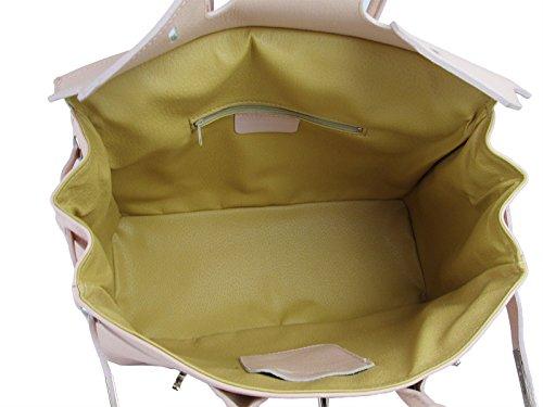 Pelle Made Birk Donna Italy In G Cipria Fg Rosa Da f Vitello Borsa Vera aqP0X1w