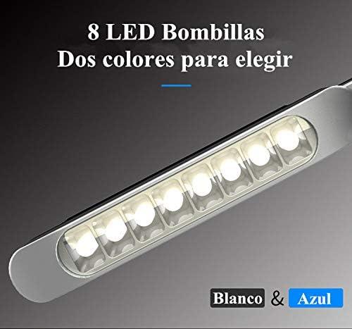 Azul 2 Unids 8 LED Energ/ía E/ólica Fuente de alimentaci/ón del coche Luces de circulaci/ón diurna DRL Luz de d/ía L/ámpara de faro No es necesario externo