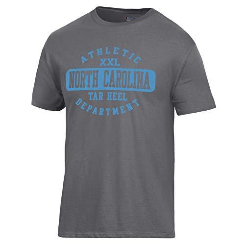 Champion NCAA North Carolina Tar Heels Men's Ringspun Short Sleeve T-Shirt, Granite Heather, Medium ()