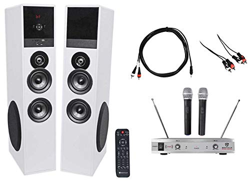 Rockville All-in-one Bluetooth Home Theater/Karaoke Machine System+Wireless Mics ()
