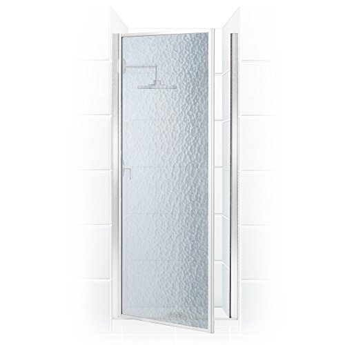 Shower Glass Classic Hinge - Coastal Shower Doors L36.69B-A Legend Series Framed Hinge Shower Door with Obscure Glass 35.625