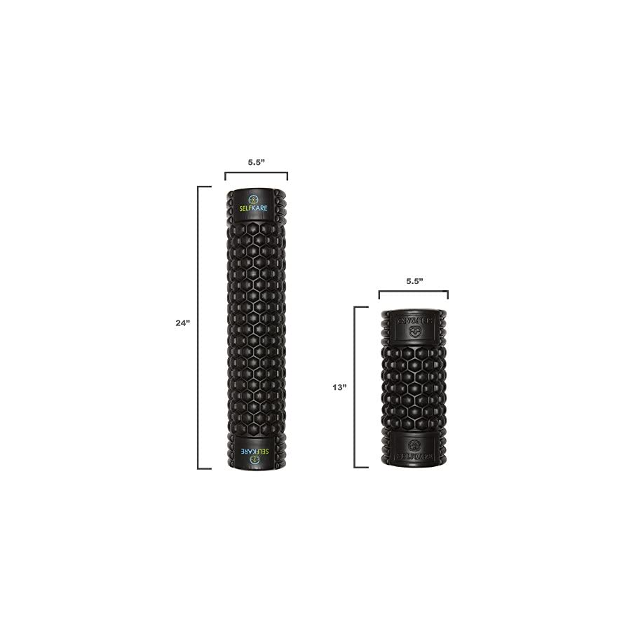 Foam Roller 24 inch Long Firm, Sturdy, Solid Core, High Density. Best Roller for Trigger Point Release on Back, Legs, IT Bands.