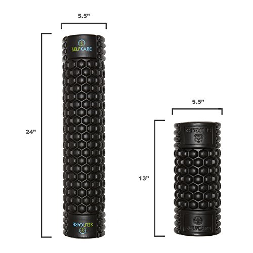 Foam Roller - 24 inch Long - Firm, Sturdy, Solid Core, High Density. Best Roller for Trigger Point Release on Back, Legs, IT Bands. by SelfKare Fitness (Image #3)