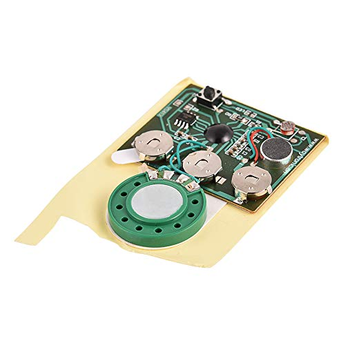(Sound Chip Module, 30 Seconds Recordable Sound Module with Push Button/Light Activated for DIY Audio Cards Plush Toy Musical Gift Greeting Cards Birthday Christmas Valentine (Push Button))