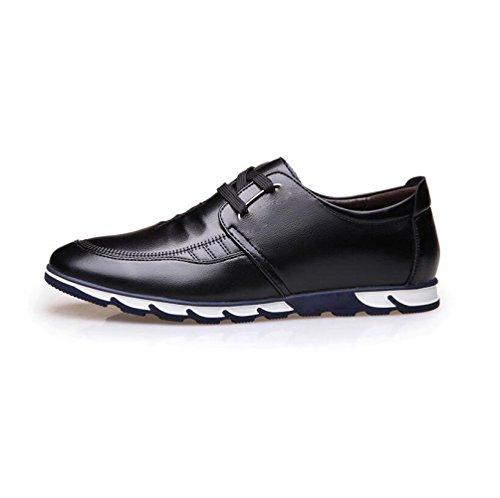 Souple Ronde Hommes Ruban Saison Chaussures Sport Point Toile Black zmlsc en Couleur Cuir Sandales Bottes d'affaires Point Casual q1Yvf4x0
