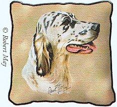 English Setter Pillow - 17 x 17 Pillow (English Setter Tapestry)