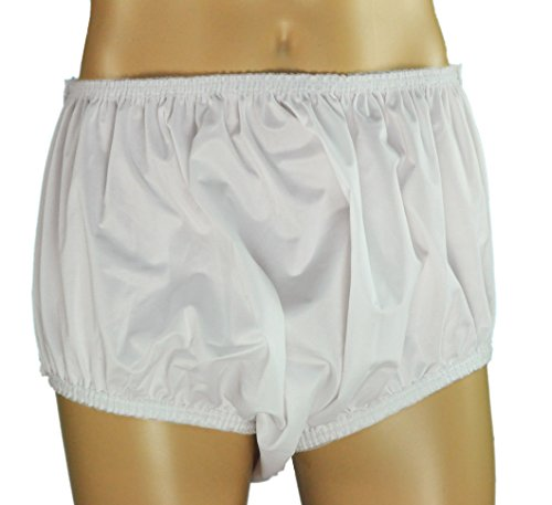 "ObboMed MT-3503G/MT-3503N ""New Larger Leg Circumference"" Reusable Washable Underwear Waterproof Pull-On Incontinent Under Pants, for Patients, Elders , Adult Men and Women - White (XL: 40-46 inches)"