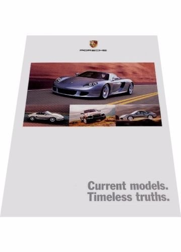 2004 Porsche Line Sales Brochure Catalog - Carrera GT Cayenne Boxster - Porsche 4s Carrera Cabriolet