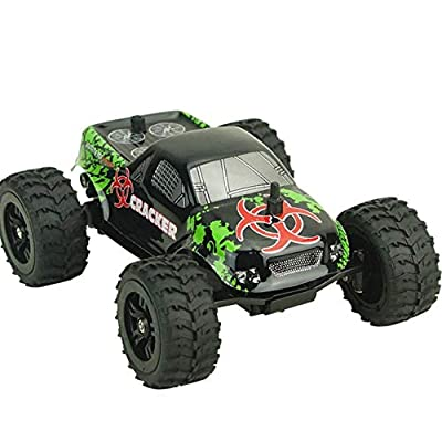 Liobaba 1:32 Full Scale 4CH 2WD 2.4GHz Mini Off-Road RC Racing Car Truck Vehicle High Speed 20km/h Remote Toy for Kids Black: Toys & Games