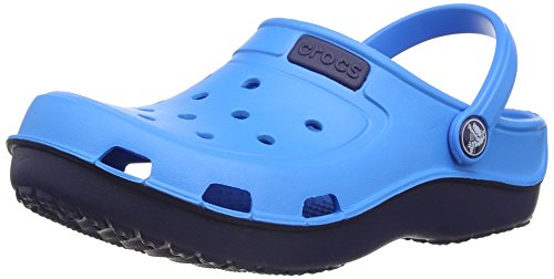 crocs DuetWaveClgK Unisex-Kinder Clogs Blau (Ocean/Nautical Navy)