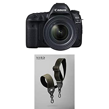 Canon EOS 5D Mark IV Full Frame Digital SLR Camera with EF 24-70mm f/4L IS  USM Lens Kit with Universal Camera Strap with Quick Release System