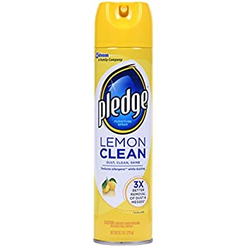 Pledge Lemon Clean Furniture Spray 9.7 oz. (Pack Of 3) packaging may vary