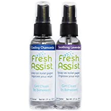 Fresh Assist Best Flushable Wipe Alternative - Soothing Lavender & Cooling Chamomile 2 Pack