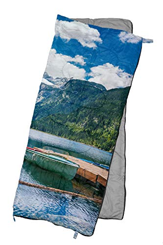 REVALCAMP Lightweight Sleeping Bag – Lake – Indoor Outdoor use. Great for Kids, Teens Adults. Ultra Light and Compact Bags are Perfect for Hiking, Backpacking, Camping Travel.